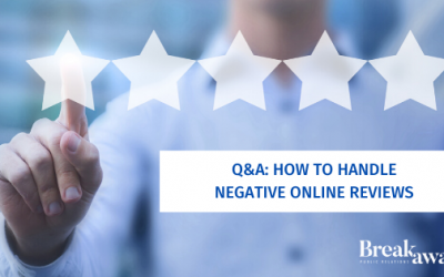 Q&A: How to Handle Negative Online Reviews